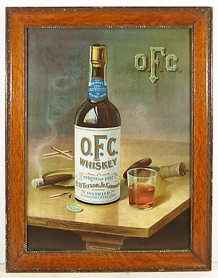 OFC Whiskey Tin Sign Litho, George Stagg Distillery, Frankfort, KY. Ca. 1900