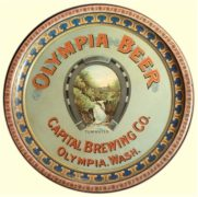 Capital Brewing Company, Olympia, WA, Serving Tray.  Ca. 1905