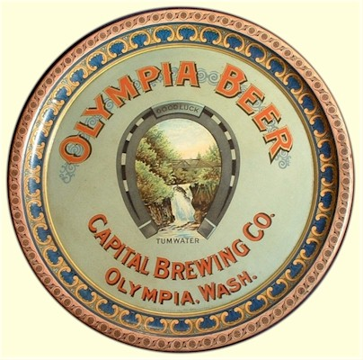 Capital Brewing Co, Olympia, WA 1900 Serving Tray
