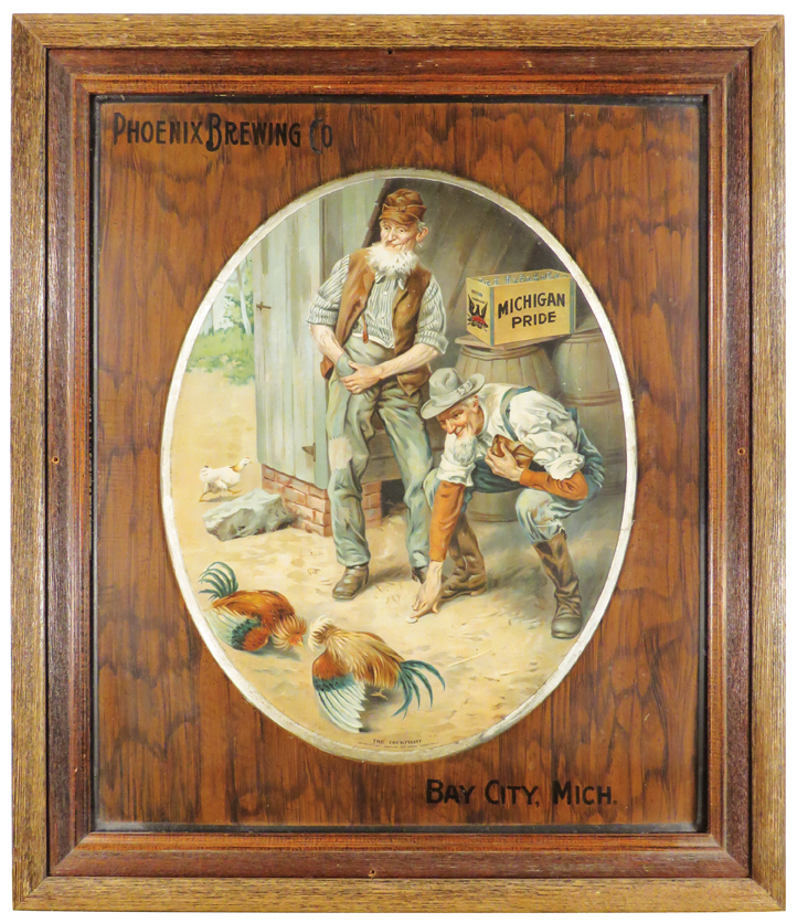 Phoenix Brewery Tin Sign, Bay City, MI. Ca. 1910