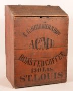 E. C. SCUDDER & BRO ACME ROASTED COFFEE STORE BIN, ST. LOUIS, MO.  Ca. 1900