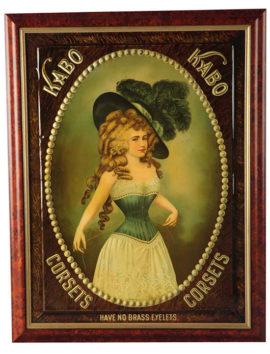 Kabo Corsets Embossed Tin Sign, Fleishman Company, Circa 1903