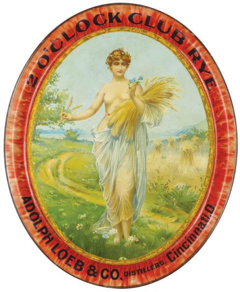 Adolph Loeb & Co. Whiskey Serving Tray, Cincinnati, OH. Circa 1900