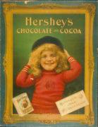 HERSHEY'S CHOCOLATE AND COCOA, CARDBOARD SIGN., Circa 1920