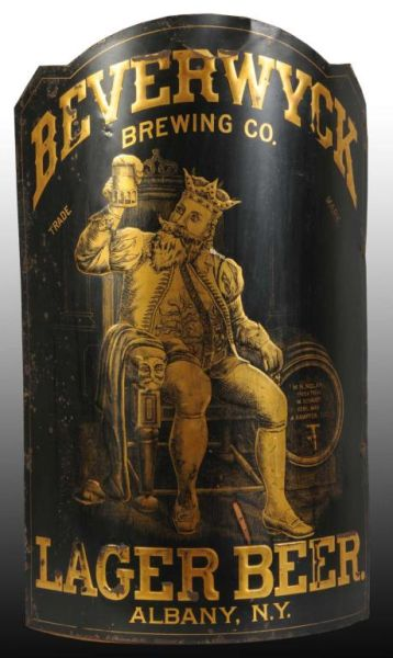 Beverwyck Brewing Co. Lager Beer Corner Sign, Albany, N.Y., Circa 1895