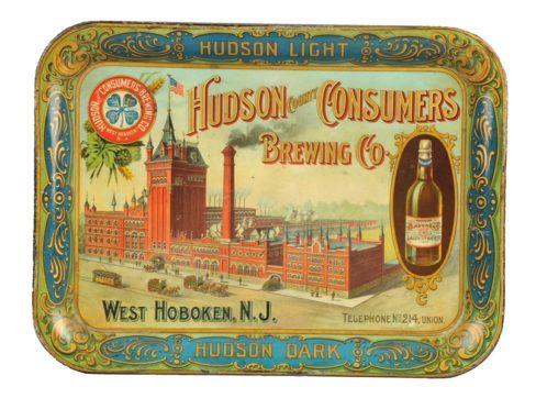 Hudson Consumers Brewing Co. Tray, West Hoboken, N.J. Pre Pro Circa 1910