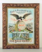 Chas A. Pillsbury & Co., Merchant Millers, Gesso Framed Litho, Minneapolis, MN.  Circa 1900