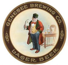 Genesee Brewing Co., Lager Beer Tray. Rochester, N.Y. Circa 1915