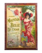 MOUNTAIN BELLE 5 CENT CIGAR, SOLIS CIGAR CO., DENVER, CO.  Circa 1900