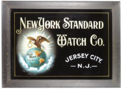 THE NEW YORK STANDARD WATCH CO., ROG SIGN, JERSEY CITY, N.J., Circa 1900