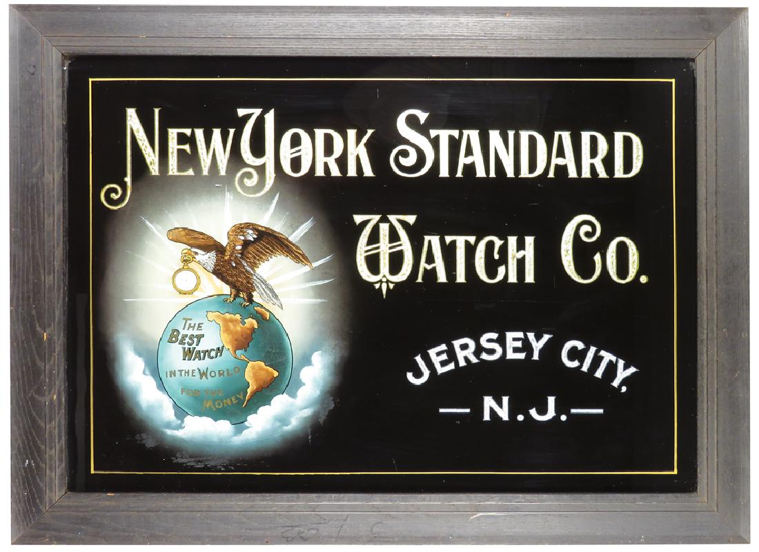 New York Standard Watch Co, ROG Sign, Jersey City, N.J., Circa 1900