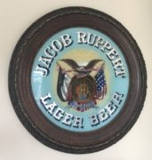 JACOB RUPPERT BREWERY LAGER BEER ROG SIGN, N.Y.C., Circa 1900