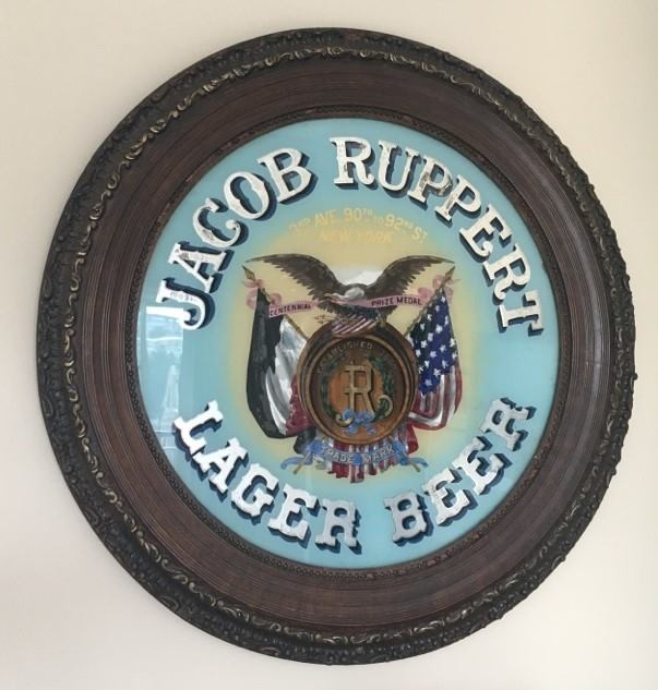 Jacob Ruppert Lager Beer, ROG Sign, New York, N.Y., Circa 1900