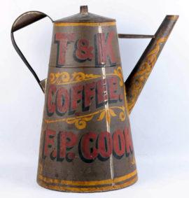 T & K Coffee Pot, Thurston & Kingsbury, Bangor, ME, Trade Sign Three Dimensional Coffee Pot