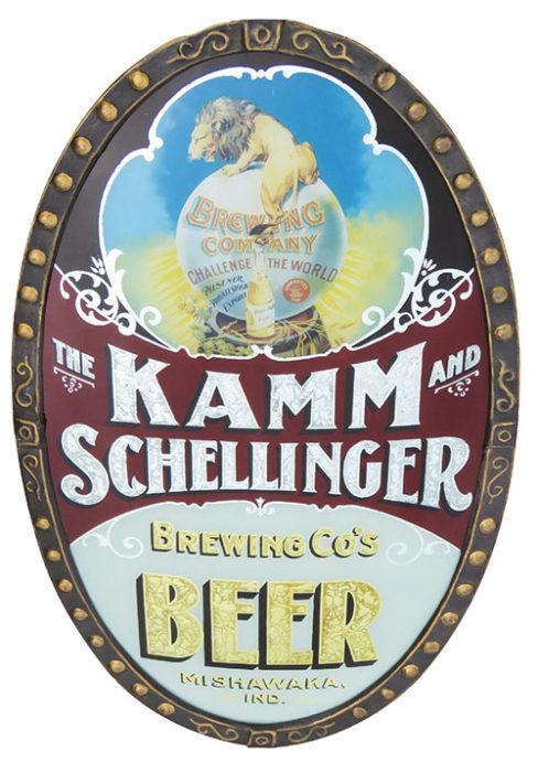 Kamm - Schellinger Brewery ROG Sign, Mishawaka, IN. Circa 1900