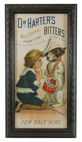 Dr. Harter's Cherry Bitters, Lithograph, St. Louis, MO, Dayton, OH 1895