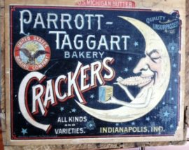 Parrott-Taggart Bakery, Cracker Label, Indianapolis, IN.