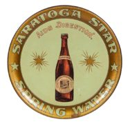 Saratoga Star Spring Water Serving Tray, Saratoga Springs, N.Y., Circa 1900