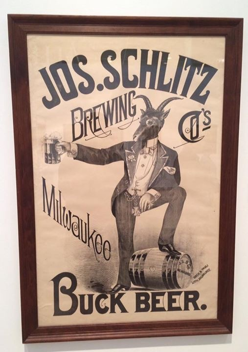 Joseph Schlitz Brewing Co., Milwaukee, WI. Buck Beer Pre-Pro Poster. Circa 1910