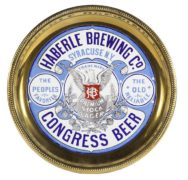 HABERLE BREWING CO., SYRACUSE, N.Y., CONGRESS BEER PRE-PRO SIGN.  Circa 1905