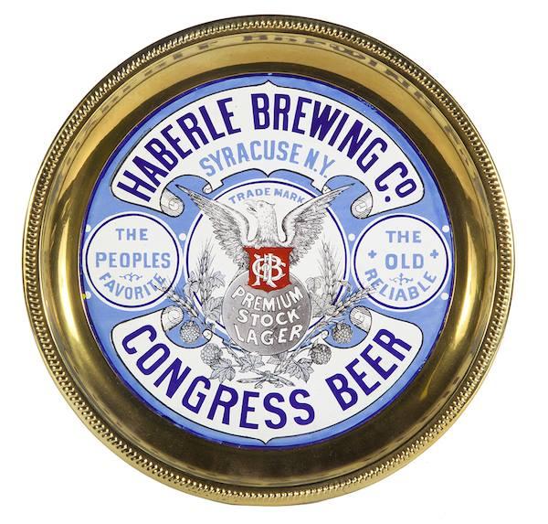 Haberle Brewing Co., Congress Beer Sign, Syracuse, N.Y., Circa 1910