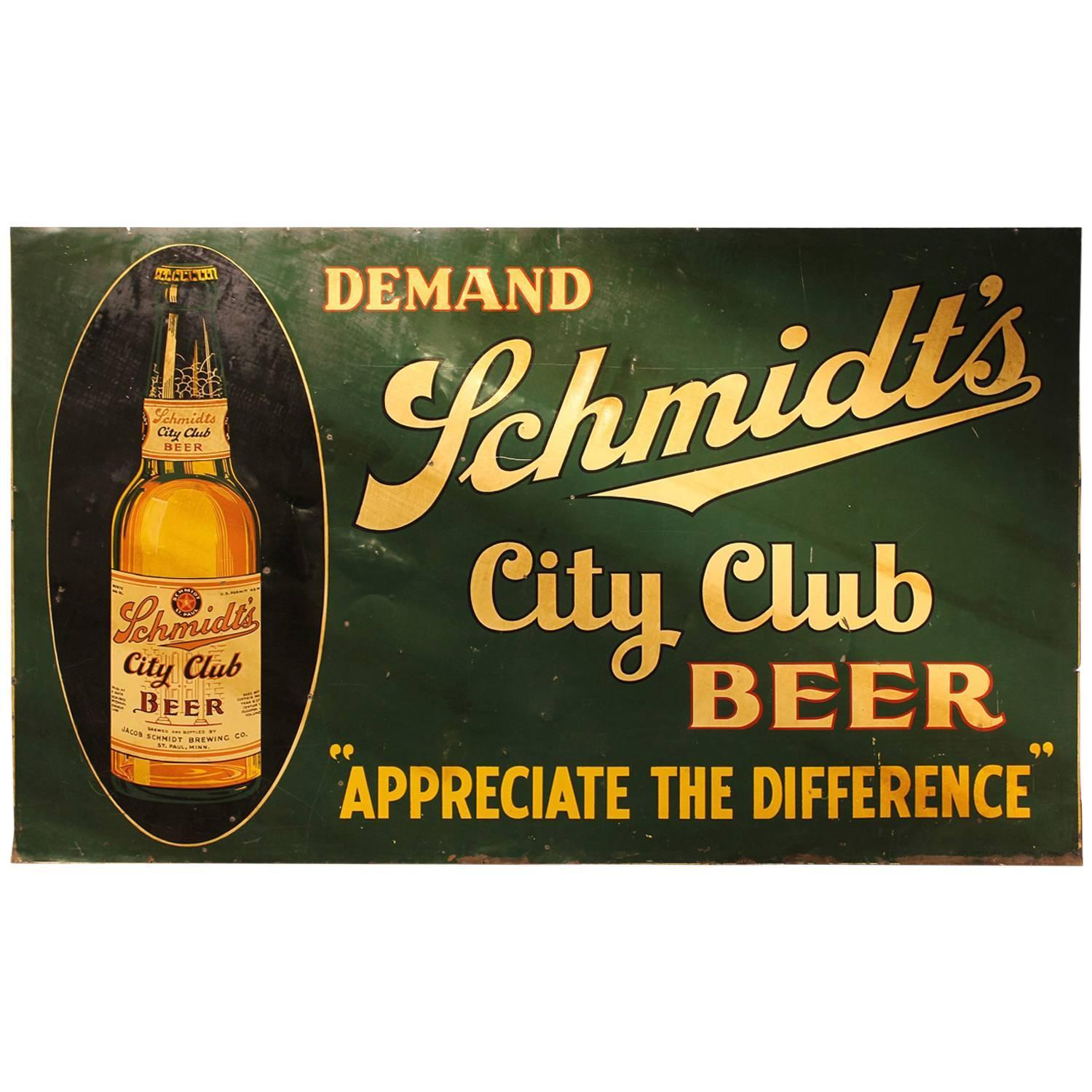 Schmidt's City Club Sign, Jacob Schmidt Brewery, St. Paul, MN