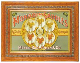 Monarch Saddles, Meyer Bannerman Saddle Co.. Sign, St Louis, MO. Circa 1900