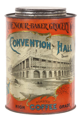 Ridenour-Baker Grocer Co Convention Brand Coffee Tin, Kansas City, MO. Circa 1900