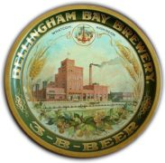 BELLINGHAM BAY BREWERY 3-B BEER SERVING TRAY, WHATCOM, WA.  Ca. 1910