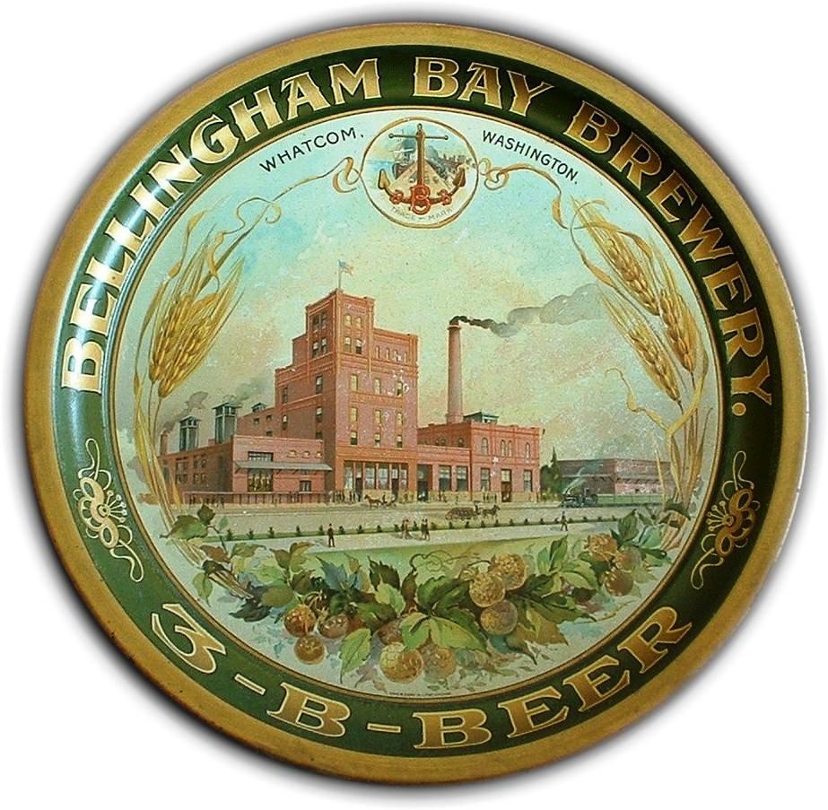 Bellingham Bay Brewery, Whatcom, WA. Pre-Pro ServingTray. Circa 1910