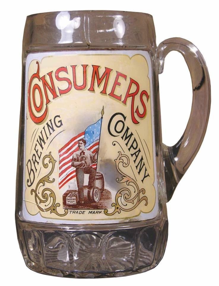Consumer's Brewing Company Glass Mug, St. Louis, MO. Circa 1905