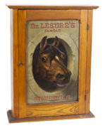 DR. LESURE'S FAMOUS REMEDIES VETERINARY DISPLAY CABINET, KEENE, N.H., Ca. 1900