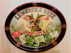 Lembeck & Betz Brewery Beer Serving Tray, Jersey City, N.J., Circa 1910