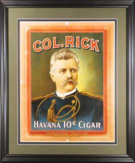 Ricksecker Cigar Co. Kansas City, MO. Col. Rick Havana 10 Cent Cigar Lithograph