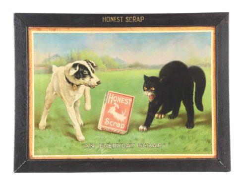 Honest Scrap Tobacco Tin Sign. Circa 1920