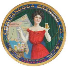 The Chattanooga, TN Brewing Co., Tin Serving Tray. Circa 1910