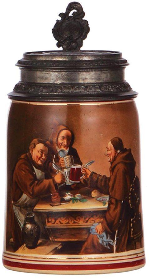 Lemp's Brewery, St. Louis, MO. Stoneware Monk's Stein. Ca. 1900