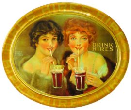 Hires Root Beer, Self Framed Tin Sign. Charles Hires Co., Philadelphia, PA. Circa 1910