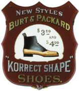 BURT & PACKARD SHOE COMPANY, ROG SIGN, BROCKTON, MA. Ca. 1905
