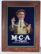M-C-A 10 Cent Cigars Sign, Goldsmith, Silver Co., Boston, MA.   Ca. 1900