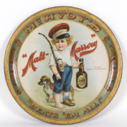 MALT MARROW SERVING TRAY, MCAVOY BREWING COMPANY, CHICAGO, IL.  Ca. 1910