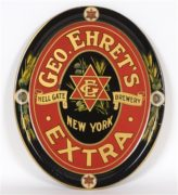 GEORGE EHRET'S HELL GATE BREWING CO. METAL SERVING TRAY, N.Y.C., Ca. 1915