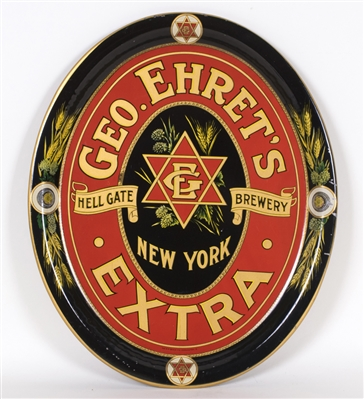 Geo. Ehret's Hell Gate Brewery, Serving Tray. N.Y.C., N.Y. Ca. 1915