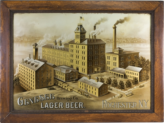 Genesee Brewing Co, Rochester, N.Y. ROG Factory Sign. Circa 1900