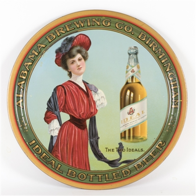 Alabama Brewing Co., Ideal Bottled Beer Serving Tray, Birmingham, AL. Circa 1910