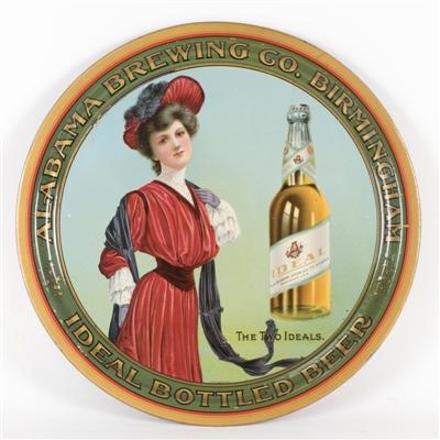 Alabama Brewing Co., Ideal Bottled Beer Serving Tray, Birmingham, AL. Circa 1910