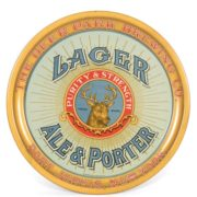 DEER PARK BREWING CO., LAGER, ALE & PORTER SERVING TRAY, PORT JARVIS, N.Y., Ca. 1910