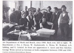 Meek and Beach Art Department Employees Photo Circa 1900-1901