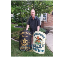 RARE Anheuser Busch and Klausmann Brewery Tin Pre-Prohibition Corner Signs, St. Louis, MO