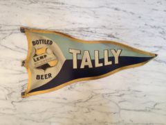 WM. J. LEMP BREWING CO., TALLY BOTTLED BEER TIN PENNANT SIGN. ST. LOUIS, MO.  Ca. 1900